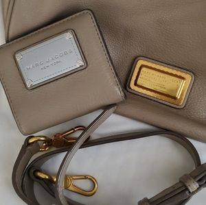 Marc by Marc Jacobs Greige Hobo and wallet set